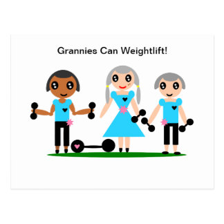 Carte Postale Mamies mettent en boîte Weightlift