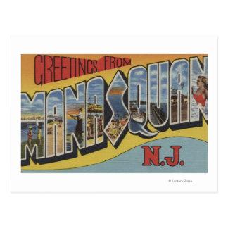 Carte Postale Manasquan, New Jersey - grandes scènes de lettre