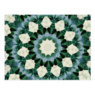 Carte Postale Mandala de bleu vert et Cerulean de Sacramento