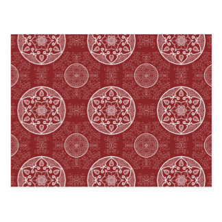 Carte Postale Mandala de canneberge