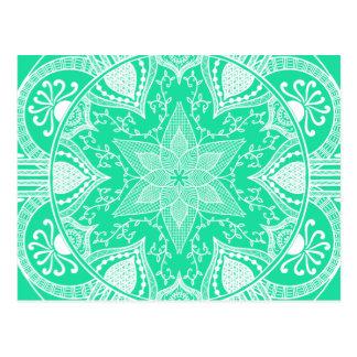 Carte Postale Mandala de menthe