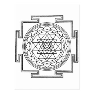 Carte Postale Mandala de Sri Yantra
