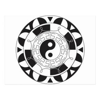 Carte Postale Mandala de Yin Yang