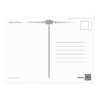 Carte Postale Mandala peint à la main de Yin Yang