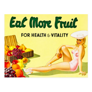 Carte Postale Mangez de plus de fruit pour le cru de santé et de