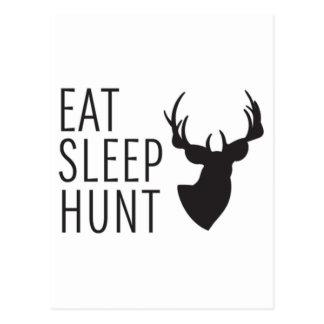 Carte Postale Mangez la chasse à sommeil
