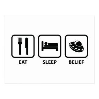 Carte Postale Mangez la croyance de sommeil