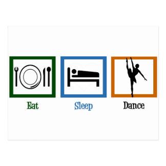 Carte Postale Mangez la danse de sommeil