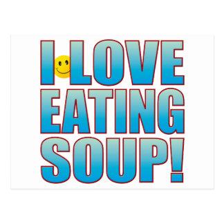Carte Postale Mangez la vie B de soupe