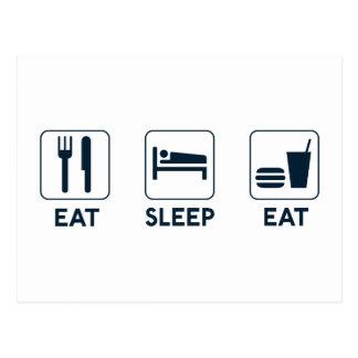 Carte Postale Mangez le sommeil mangent