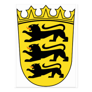 Carte Postale Manteau de Bade-Wurtemberg (Allemagne) des bras