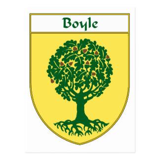 Carte Postale Manteau de Boyle des bras/de crête de famille