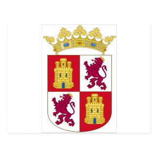Carte Postale Manteau de la Castille y Léon (Espagne) des bras