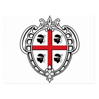 Carte Postale Manteau de la Sardaigne (Italie) des bras