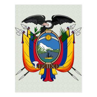 Carte Postale Manteau de l'Equateur de détail de bras