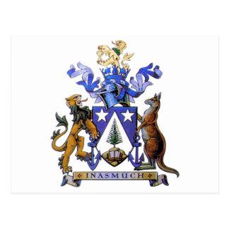 Carte Postale Manteau de l'Île Norfolk des bras