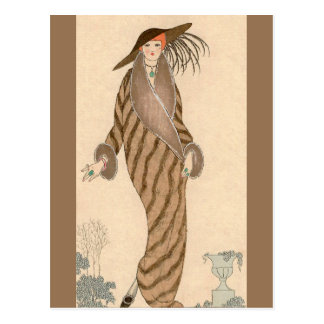 Carte Postale Manteau de sable George Barbier
