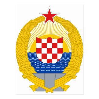 Carte Postale Manteau des bras de la république de Croatie