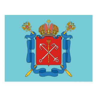 Carte Postale Manteau des bras du St Petersbourg