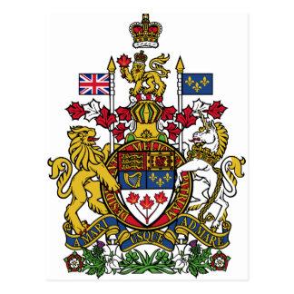 Carte Postale Manteau du Canada des bras CA