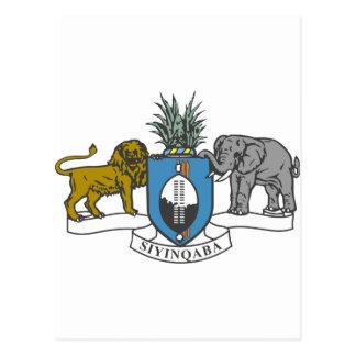 Carte Postale Manteau du Souaziland des bras