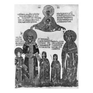 Carte Postale Manuel Palaeologus protégé par Vierge Marie
