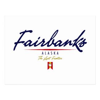 Carte Postale Manuscrit de Fairbanks