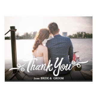 Carte postale manuscrite de Merci de mariage