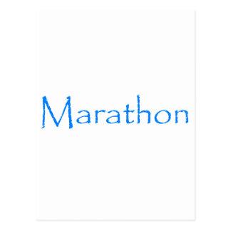 Carte Postale Marathon