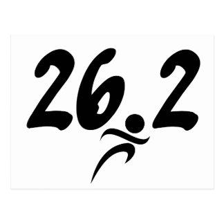 Carte Postale marathon 26,2