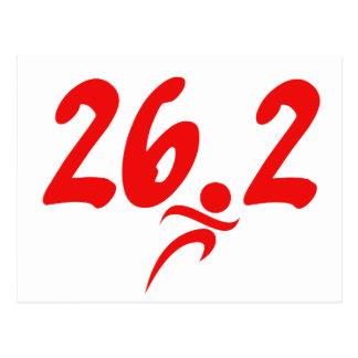 Carte Postale Marathon du rouge 26,2