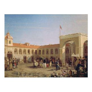 Carte Postale Marché d'Apraksin à St Petersburg, 1862