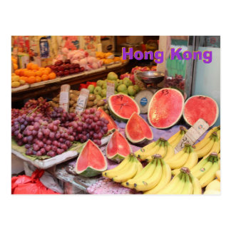 Carte Postale Marché de Hong Kong