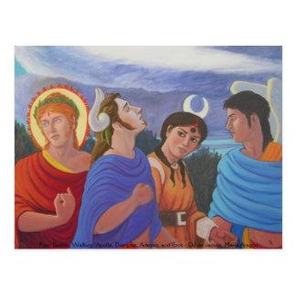Carte Postale Marche de quatre divinités