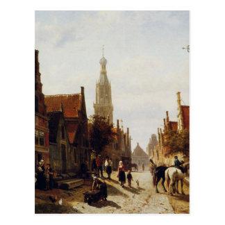 Carte Postale Marché Oudewater par Cornelis Springer