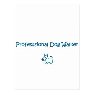 Carte Postale marcheur de chien