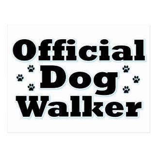 Carte Postale Marcheur officiel de chien