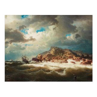 Carte Postale Marcus Larson - bateau par la côte