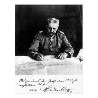 Carte Postale Maréchal Paul von Hindenburg, 1914
