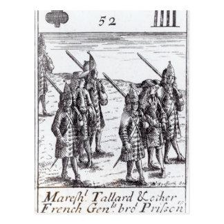 Carte Postale Maréchal Tallard et d'autres généraux français