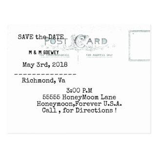 Carte Postale Mariage-Carte-Invitation-Jade-Or-Modèle