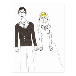 Carte Postale Mariage déplaisant 2 de Th