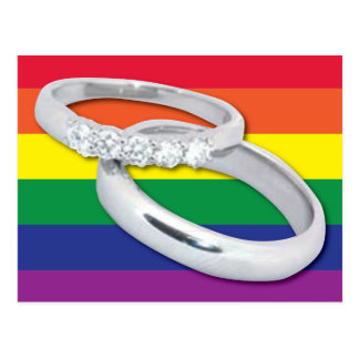 Carte Postale Mariage lesbien gai