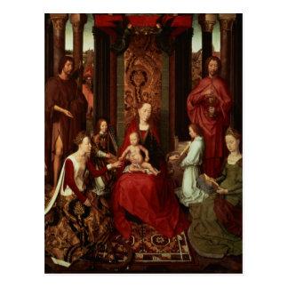 Carte Postale Mariage mystique de St Catherine et d'autres