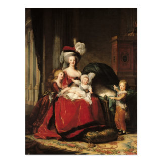 Carte Postale Marie-Antoinette et ses enfants, 1787