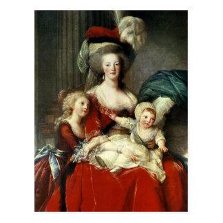Carte Postale Marie-Antoinette et ses quatre enfants, 1787