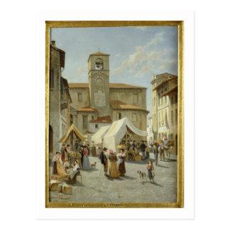 Carte Postale Marketday dans Desanzano (huile sur la toile)