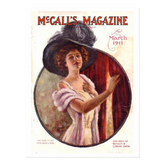 Carte Postale Mars 1911 couverture de magazine