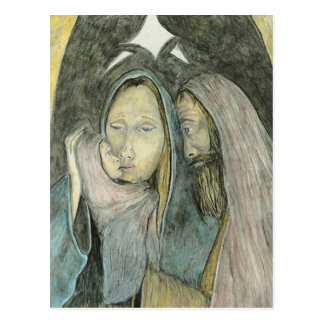 Carte Postale Mary Joseph et Noël religieux de Jésus de bébé