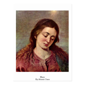 Carte Postale Mary par Alonso Cano